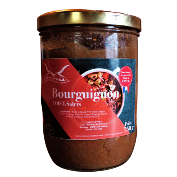 Boeuf salers sauce bourguignon