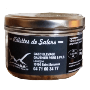 Rillettes boeuf salers cantal